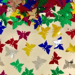 Kelebek şekilli konfeti