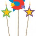 Sopalı mum boyu: yıldızlar:12