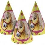 Külah biçimli küçük karton parti şapkası