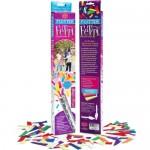 35.5cmx2cm'lik 3 tüp halinde satılır. İçinden renkli kağıt şeritler çıkar. Doğum günü partiler