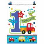 Parti temanıza uygun plastik parti hediye poşeti 16x24cm ebatlarındadır. Misafirlerinize parti hediyelikleri veya günün önemine uygun bir anı hediyelik vermek için uygundur. 1 yaş doğum günü partileri için ideal!