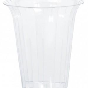 15cm Plastik sunum kabı. Tekrar kullanılabilir. Sadece elde yıkanabilir. Mikro fırına girmez.