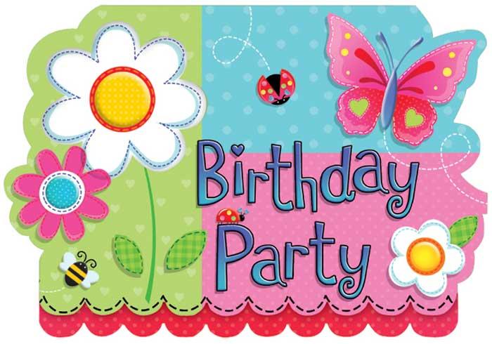 Открытка приглашение друга на день рождения на английском