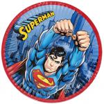 Doğum günü partileri için 23cm baskılı kullan at kağıt parti tabağı. Superman Doğum günü partilerinizde parti sofralarının vazgeçilmez parti ürünüdür. Diğer Superman temalı parti malzemeleri ile kombinleyebilirsiniz.