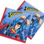 33x33cm Superman partisi temalı kağıt peçete. Superman temalı partilerde parti sofralarınızı tamamlar