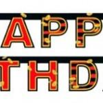 Doğum Günü Partilerinin vazgeçilmez parti dekoru. Parti teması ile uyumlu Happy Birthday yazılı