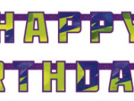 Ninja Turtles happy birthday banner