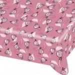 Angry Birds Pink temalı ürünler ile uyumlu 120 x 180cm plastik kullan-at masa örtüsü.