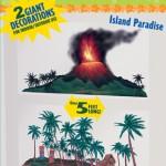 vinil üzerine 4 renk baskı Tropikal Ada duvar dekoru