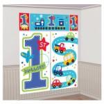 1.65m x 1.9m şeffaf vinil üzerine 4 renk baskı dekor. Duvar dekorları hem parti dekoru olarak hem de önünde parti fotoğrafları çektirmek için ideal! Seletoyp