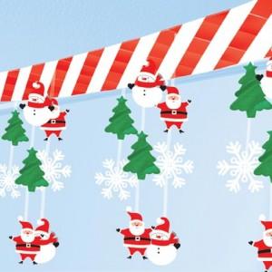 30cmx3.6m ebatlarında tavan dekoru. İki ucundan tutturularak kullanılır. Mekan süslemesi için idealdir. Bu ürünü Kardan Adam ve Noel Baba mekan dekorları ile birlikte kullanarak olağanüstü bir yeniyıl dekorasyonu yaratabilirsiniz.