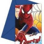 The Amazing Spider-man 2 parti temanıza uygun parti davetiyeleri ile konuklarınızı davet ederken parti konseptine hazırlamış olursunuz. Zarflar davetiyelerle birlikte gelir.