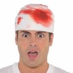 Halloween kostüm aksesuarı kanlı şapka
