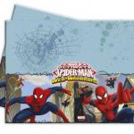 Spiderman parti teması ile uyumlu 120x180cm kağıt kullan-at masa örtüsü.