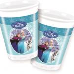 Frozen Karlar Ülkesi temasına ait plastik kullan at parti bardağı