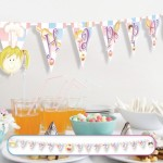 "3mx16cm ""Happy Birthday"" yazılı bayrak banner."