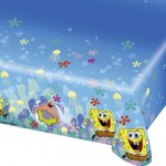 Sponge Bob temasına uygun 120x180cm ölçülerinde plastik parti masası örtüsü