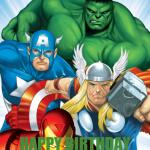 Avengers temalı doğum günü partilerinizde duvarda veya kapıda kullanabileceğiniz 50x70cm ebatında