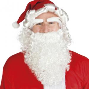 Lüks Noel Baba Seti: Saçlı kukuleta şapka