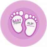 baby Shower partileriniz için 15cm sticker baskı. Düz renkli kullan at kağıt ve plastik parti tabaklarıyla birlikte kullanabilirsiniz.  Fiyata tabak dahil değildir! Bu sticker ları düz renk poşet