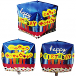 Küp biçimli doğum günü folyo balonu. DDekor ve balon buketi olarak kullanabilirsiniz. Şişirilmeden gönderilir. Helyum gazı ile uçan balon yaptırmak için lütfen mağazalarımızla irtibata geçiniz.
