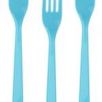 Kaliteli plastikten mavi renkli çatal. Kolayca bükülmez