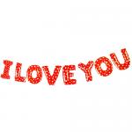 I Love You Kırmızı Kalpli Folyo Balon