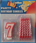 7 sayısı mum ve 10 adet altlıklı pasta mumu doğum günü partileriniz ve yıl dönümü kutlamalarınız için ideal parti malzemesi. Diğer sayı mumlarla birlikte kullanarak tüm yaşları kutlayabilirsiniz