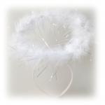 Kuştüyü ve sim dekorlu kaliteli taç. Kostümünüzü melek kanadı ile tamamlayabilirsiniz. Kostümlü partiler