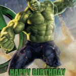 Avengers Hulk temalı doğum günü partilerinizde duvarda veya kapıda kullanabileceğiniz 50x70cm ebatında