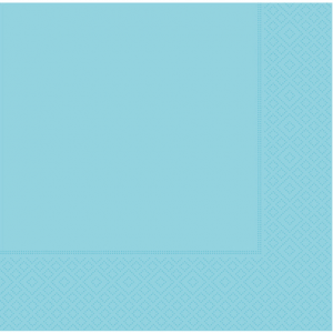33 cm x 33 cm ebatında bebek mavi renkte çift katlı kaliteli kağıt peçete. Peçeteler klorsuz ve su bazlıdır. Bir pakette 20 adet mevcuttur.