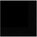 33cm x 33cm ebatında siyah renkte çift katlı kaliteli kağıt peçete. Peçeteler klorsuz ve su bazlıdır. Pakette 20 Adet bulunur.