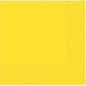33 cm x 33 cm ebatında sarı renkte çift katlı kaliteli kağıt peçete. Peçeteler klorsuz ve su bazlıdır. Bir pakette 20 adet mevcuttur.