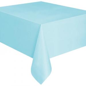 Kullan At bebek mavi renkte plastik masa örtüsü