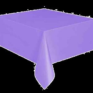Kullan At mor renkte plastik masa örtüsü