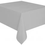 Kullan At gümüş renkte plastik masa örtüsü