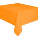 Kullan At turuncu renkte plastik masa örtüsü