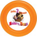 Masha and The Bar / Masha ve Koca Ayı partileriniz için 15cm sticker baskı. Düz renkli kullan at kağıt ve plastik parti tabaklarıyla birlikte kullanabilirsiniz.  Fiyata tabak dahil değildir! Bu sticker ları düz renk poşet
