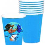 Okyanus Partisi Nemo Dory partileriniz için 8cm sticker baskı. Düz renk kullan at kağıt ve plastik parti bardaklarıyla birlikte kullanabilirsiniz.  Fiyata bardak dahil değildir! Bu sticker ları düz renk poşet