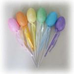 Paskalya ve bahar partileriniz için dekor olarak yada sapına sitemizden satın alabileceğiniz şeker keselerine şeker doldurup bağlayarak hediyelik olarak kullanabilirsiniz. 20cm tel sap ucunda 6cmX3