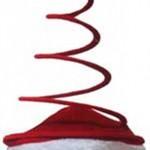 Peluş ve kumaş kaplı telden yapılmış yılbaşı şapkası. Yetişkinler için uygundur.