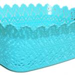 21x14x10cm ebatlarında plastik sunum sepeti.Tekrar kullanılabilir. Sadece elde yıkanabilir.