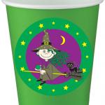 Tatlı Cadı partileriniz için 8cm sticker baskı. Kullan at kağıt parti bardaklarıyla birlikte kullanabilirsiniz. Fiyata bardak dahil değildir! Bu sticker ları düz renk poşet