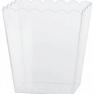 15.2cm Plastik sunum kabı.Tekrar kullanılabilir. Sadece elde yıkanabilir. Mikro fırına girmez.