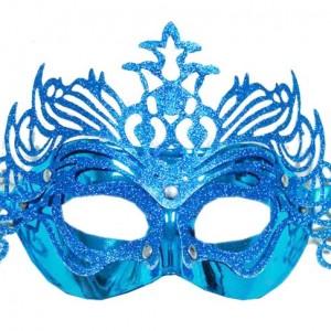 Folyo Taç dekorlu maske. Stok durumuna göre yeşil