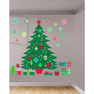 1 adet vinil üzerine renkli baskı kendinden yapışkanlı 91.4cm x 61cm ebatında dekor