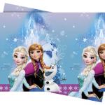 Frozen temalı ürünler ile uyumlu 120 x 180cm plastik kullan-at masa örtüsü.