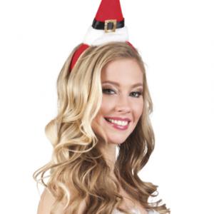 Minyatür noel baba şapkası şeklinde parti taçı. Yılbaşı kıyafetini tammalayıcı olarak veya tek başına kullanılır. Noel anneler için idealdir :)