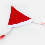 Elyaf saç örgülü Noel Anne şapkası