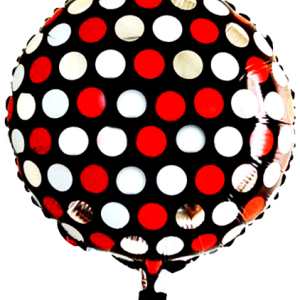 45cm puantiye desenli folyo balon. Şişirilmeden gönderilir. Helyum gazı ile uçan balon haline getirtmek için mağazalarımızla irtibata geçebilirsiniz.